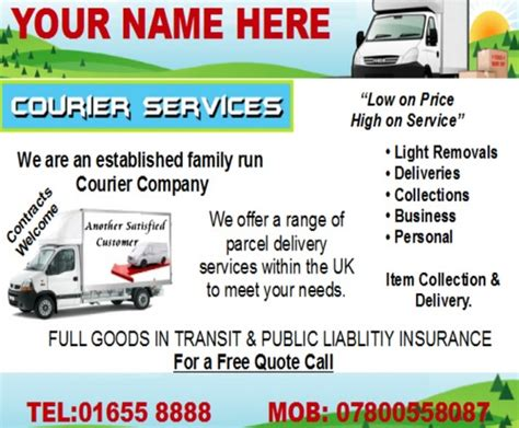 templates for courier website freelance courier business templates forms download business
