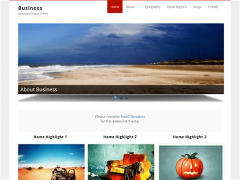 drupal themes with slider free download business free drupal theme