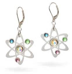 earrings photo rutherford bohr model atom earrings thinkgeek