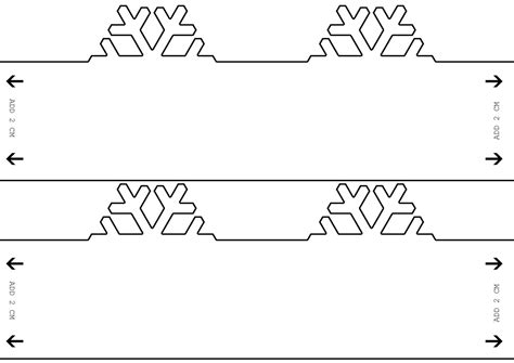 Snowman Paper Chain Template by Snowman Paper Chain Template Decore