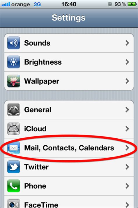 iphone email settings setting up an email account on an iphone web24
