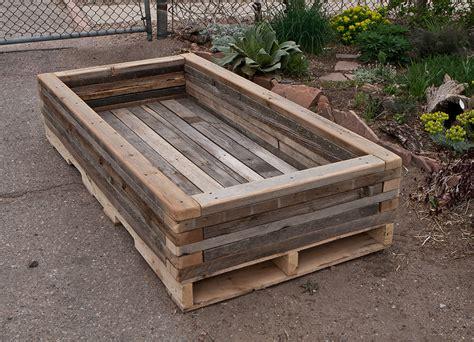 reclaimed wood planter reclaimed stacked palette wood planter 3 custom by rushton llc