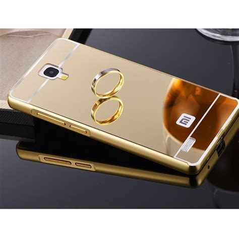 Xiaomi Note 1 3g4g Alumunium Metal Mirror aluminium bumper with mirror back cover for xiaomi redmi note golden jakartanotebook