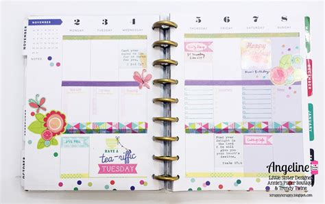 layout planner happy planner layout november scrappy scrappy