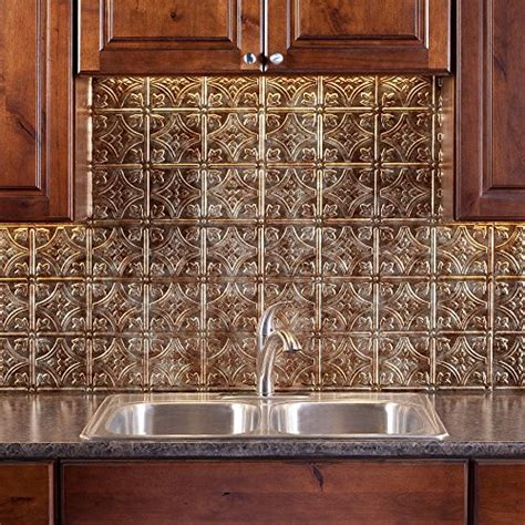 fasade kitchen backsplash panels fasade easy installation traditional 1 bermuda bronze backsplash panel for new ebay