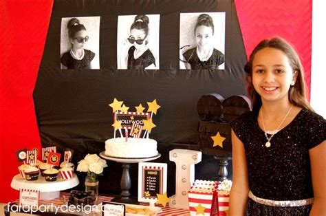 hollywood movie theme party hollywood glam birthday party movie night party ideas