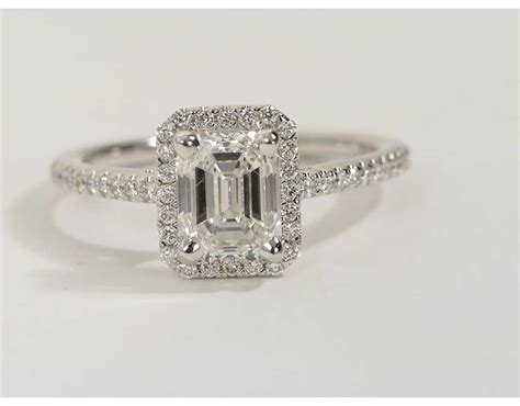 2 03 carat emerald cut halo engagement