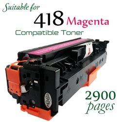 Canon Mf 729cx Printer compatible canon 418 magenta
