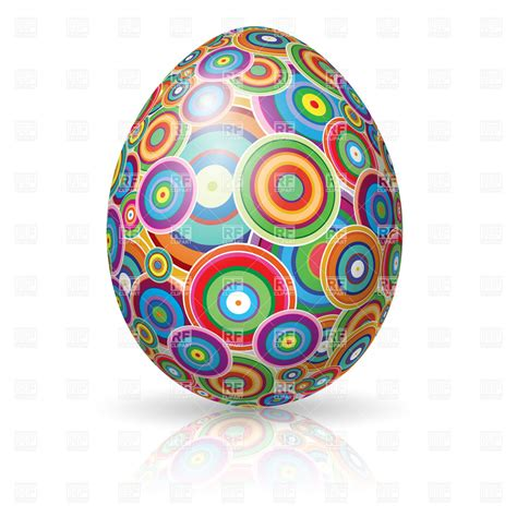 east egg easter egg ornate with circles vector image 7846 rfclipart