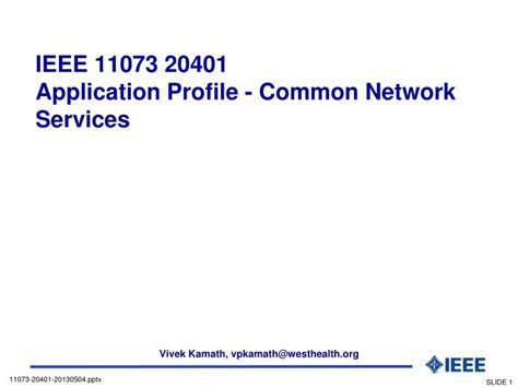 ppt ieee 11073 20401 application profile common network services powerpoint presentation