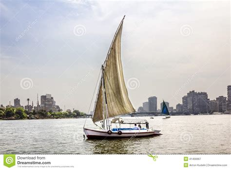 sailboat on the nile sailboats on the nile in cairo in egypt stock photo