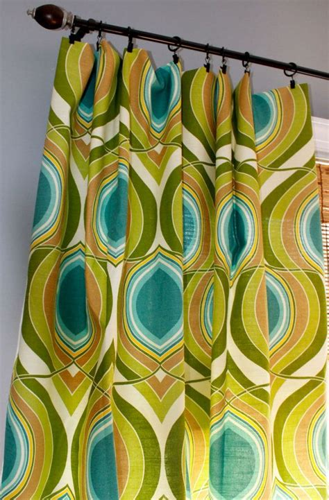 teal and lime green curtains teal turquiose lime green yellow and ivory geometric