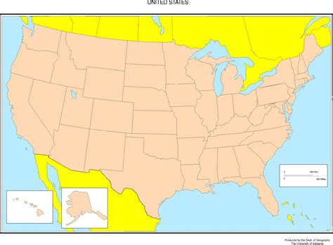 maps of the us united states blank map