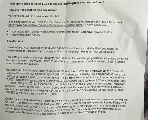 Visa Sponsorship Letter For Parents uk visitor visa refused sponsors travel stack
