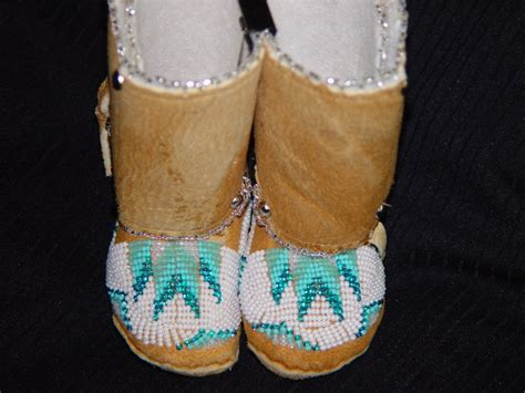 beaded moccasin tops a beaded high top baby moccasins 1c