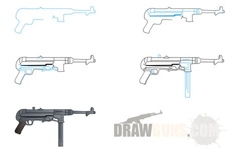 how to draw doodle guns pics for gt how to draw a gun step by step easy