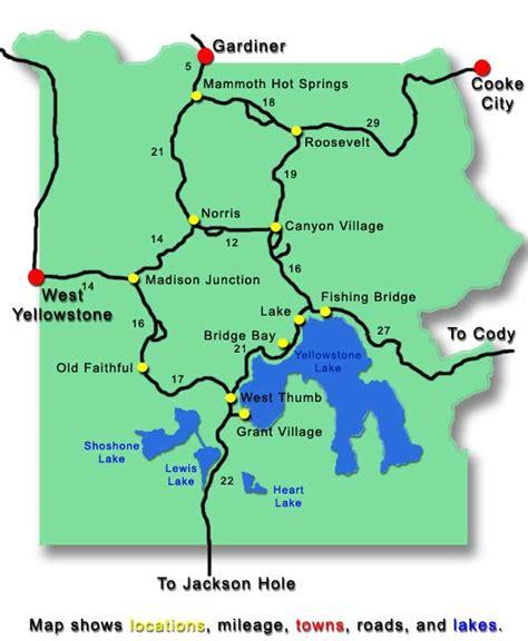 yellowstone lodging map yellowstone map