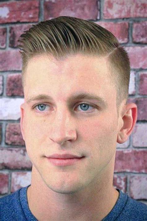 shaved sides pompadour men haircut card shaved side