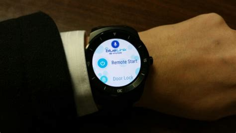hyundai blue link remote start hyundai blue link smartwatch app available for on