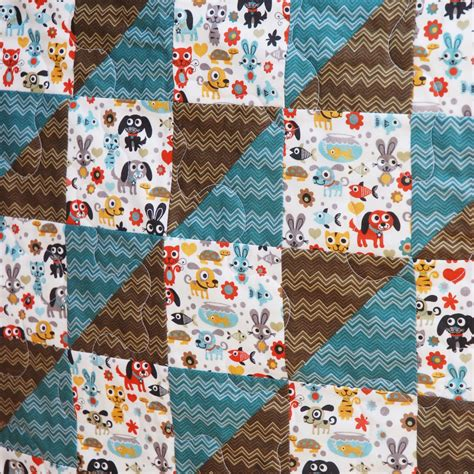 me funky bunny baby boy quilt