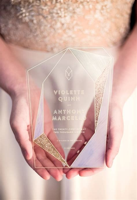 Wedding Invitation Trends 2018 by 4 Chic Geometric Modern Wedding Invitation Trends For 2018