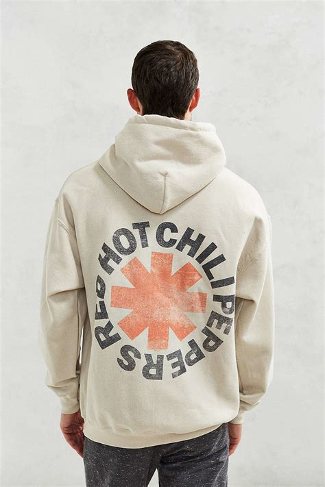 Hoodie Sweater Chili Paper Logo outfitters chili peppers hoodie sweatshirt in white for lyst