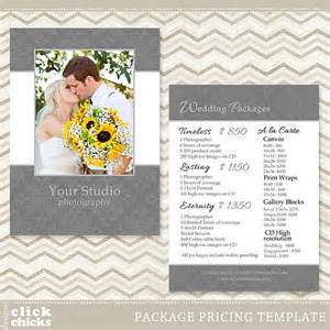 Wedding Photographer Price List Template Photography Package Pricing List Template By