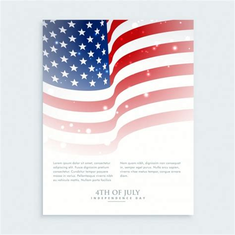 Flyer Of 4th Of July With American Flag Vector Free Download Free American Flag Flyer Template