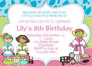 spa birthday invitation spa birthday by thebutterflypress