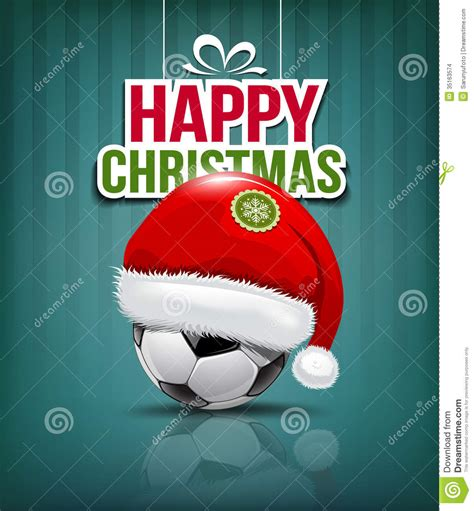 imagenes navidad futbol feliz navidad sombrero de pap 225 noel en bal 243 n de f 250 tbol