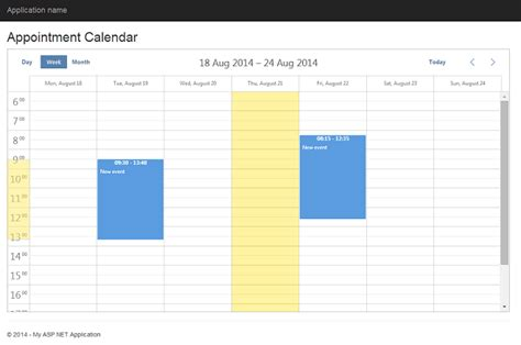 design calendar in asp net dhtmlx scheduler net 7 steps to appointment calendar