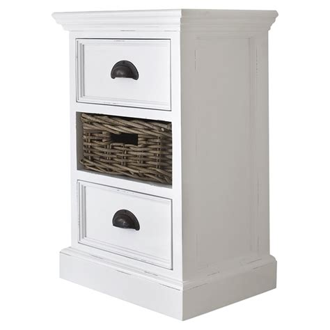 Home Decor Stores Halifax by Halifax Bedside Storage Unit With Basket Pure White
