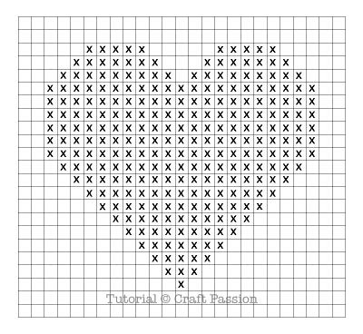 heart pattern on graph paper knit a heart free knitting patterns craft passion