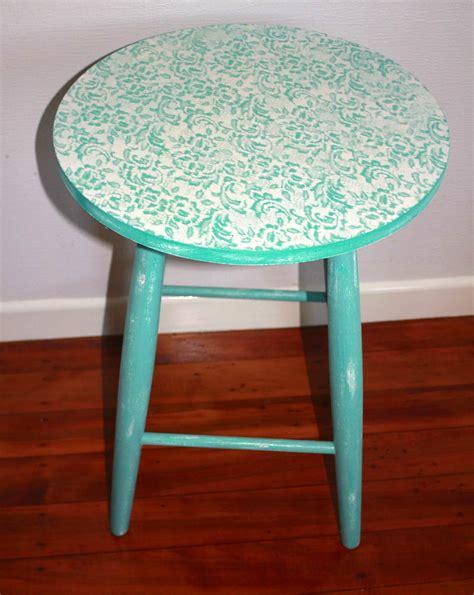 shabby chic stool felt