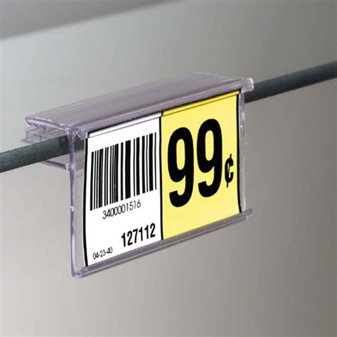 glass shelf upc label holder fits shelves 1 4 quot or 3 16