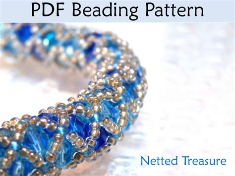 beading pdf beading pattern tutorial bracelet necklace tubular