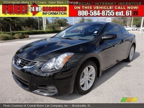 nissan altima black 2010 black 2010 nissan altima 2 5 s coupe charcoal