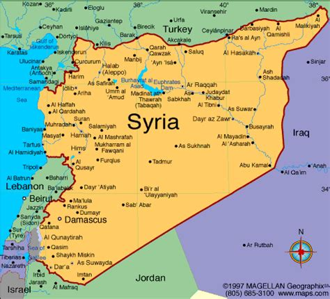 syria map of map of syria free printable maps