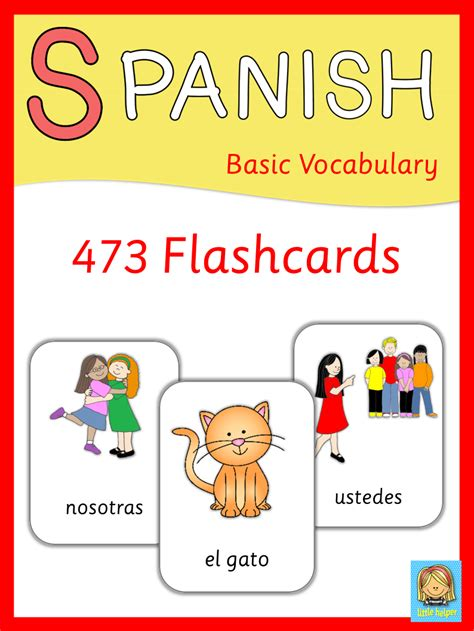 free printable spanish flashcards for toddlers spanish flashcards basic vocabulary spanish lessons