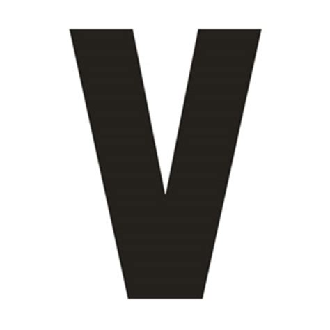 large printable letter v solid capital v