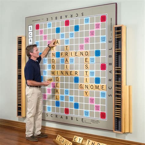 scrabble wall ideas the world s largest scrabble only 12 000 the