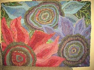 contemporary rug hooking patterns rug hooking paper pattern three blooms abstract primitive folk karla g rug hooking paper