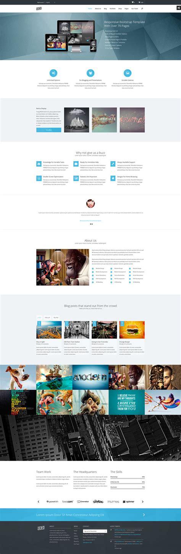 bootstrap themes zero html5 responsive website templates web design graphic