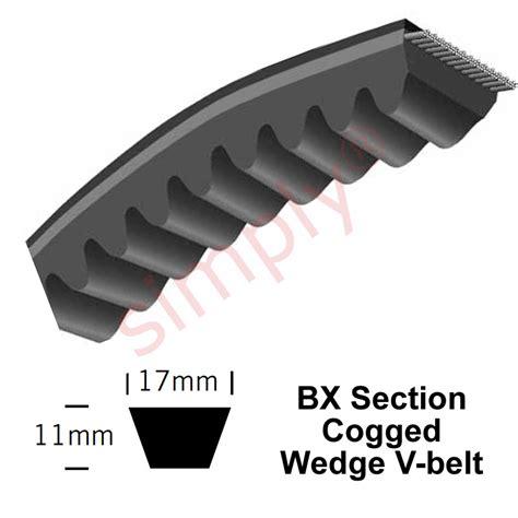 a section v belt bx38 major brand bx section cogged v belt ebay