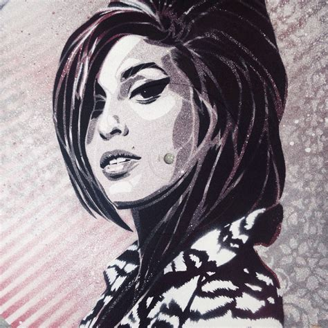 amy winehouse stencil art  behance