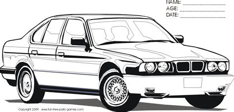 Bmw Car Coloring Pages Kids
