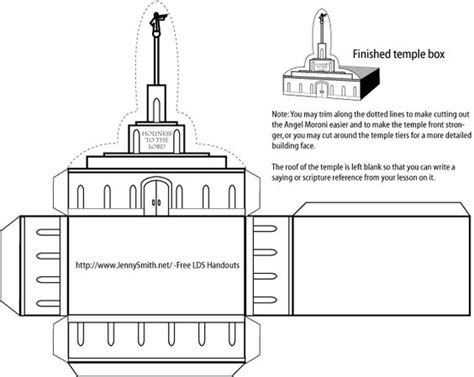 Temples Object Lessons And Lds On Pinterest Lds Temple Template