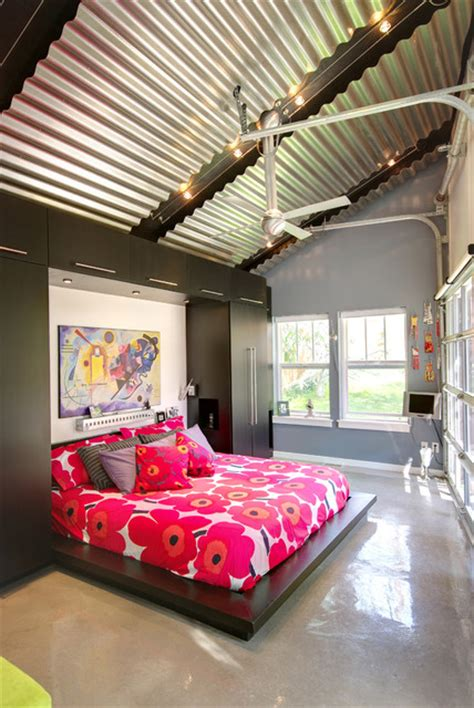 garage bedroom contemporary murphy bed with glass garage doors contemporary bedroom salt lake city by