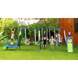 Backyard Discovery Swing Sportspower Mountain View Metal Swing Slide And