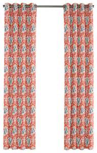 Blue And Pink Curtains Blue And Pink Coral Leaf Grommet Curtain Single Panel Contemporary Curtains By Loom Decor